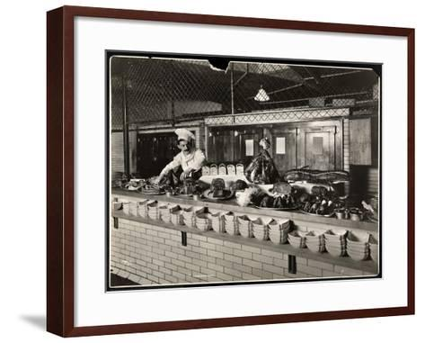 Display of Cold Meat in the Kitchen of the Commodore Hotel, 1919-Byron Company-Framed Art Print