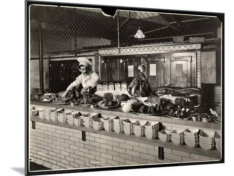 Display of Cold Meat in the Kitchen of the Commodore Hotel, 1919-Byron Company-Mounted Giclee Print