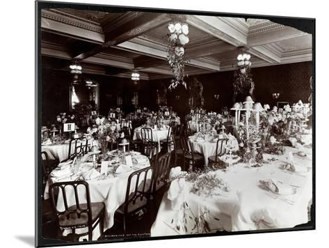 Tables Set for the Electric Club's Banquet at Hotel Delmonico, 1902-Byron Company-Mounted Giclee Print