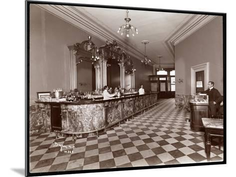 Bar at Gilsey House, Broadway and 29th Street, New York, 1900 or 1901-Byron Company-Mounted Giclee Print