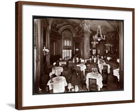 The Ladies' Cafe at the Hotel McAlpin, 1913-Byron Company-Framed Art Print