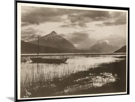 View of a Lake and a Boat During the Construction of the Panama Canal, 1912 or 1913-Byron Company-Mounted Giclee Print