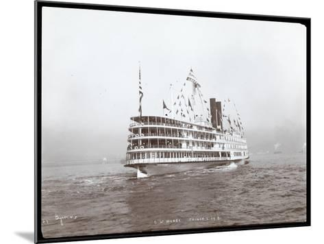 """View of the Steamship """"C.W. Morse"""", Presumably on the Hudson River Near West Point Upon the Visit…-Byron Company-Mounted Giclee Print"""