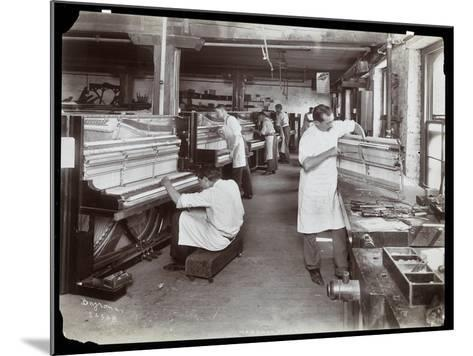 Men Working in the Hardman, Peck and Co. Piano Factory, New York, 1907-Byron Company-Mounted Giclee Print