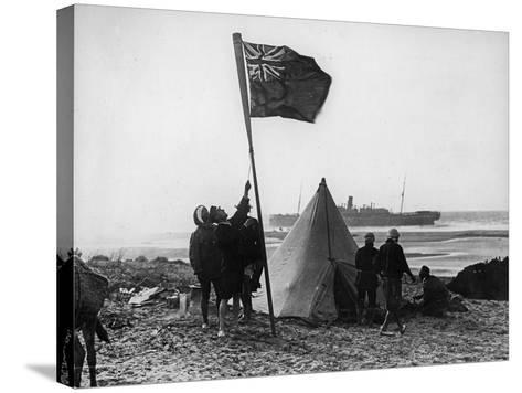 Wreck of the Delhi on the Moroccan Coast, December, 1911-Thomas E. & Horace Grant-Stretched Canvas Print