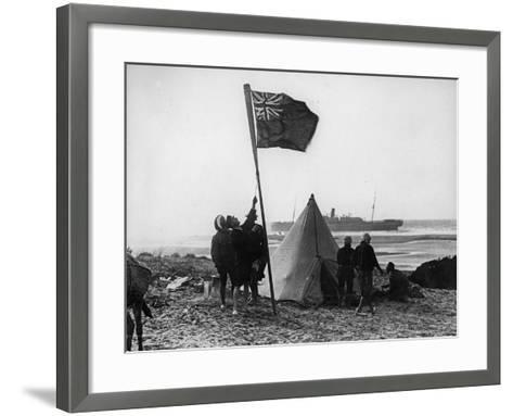 Wreck of the Delhi on the Moroccan Coast, December, 1911-Thomas E. & Horace Grant-Framed Art Print