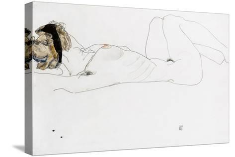 Reclining Female Nude, 1912-Egon Schiele-Stretched Canvas Print