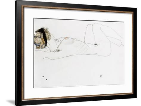 Reclining Female Nude, 1912-Egon Schiele-Framed Art Print