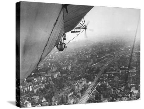 Aerial View from a Zeppelin-Thomas E. & Horace Grant-Stretched Canvas Print