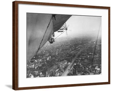 Aerial View from a Zeppelin-Thomas E. & Horace Grant-Framed Art Print