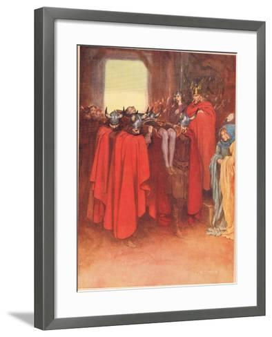 Horatio Tells His Men to 'Bear Hamlet Like a Soldier', from 'Hamlet' by William Shakespeare,…-W. G. Simmonds-Framed Art Print