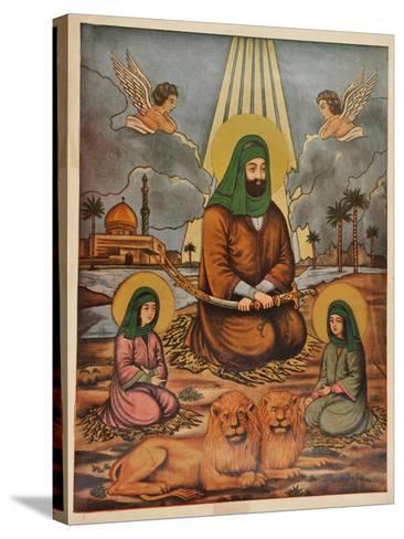Pakistani Folk Print--Stretched Canvas Print