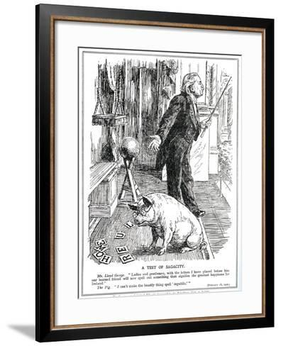 Lloyd George Faces Opposition to His 'Government of Ireland' Bill from the -English School-Framed Art Print