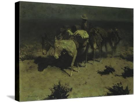 A Pack Train, 1909-Frederic Sackrider Remington-Stretched Canvas Print