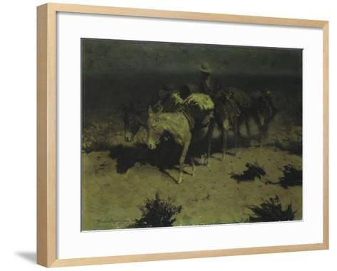 A Pack Train, 1909-Frederic Sackrider Remington-Framed Art Print