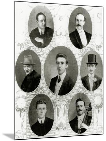 Seven of the Eight Members of the Ship's Band on the Titanic, 1912--Mounted Giclee Print