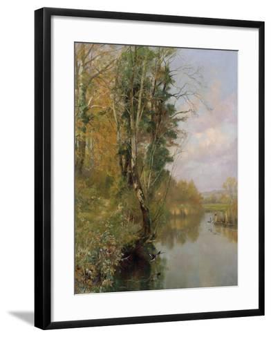The River Frome, Morton nr Dorchester, 1901-Frederick William Newton Whitehead-Framed Art Print