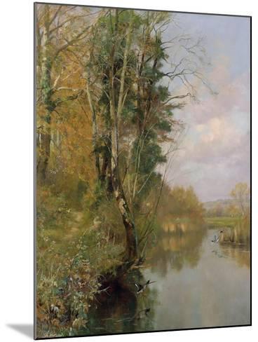 The River Frome, Morton nr Dorchester, 1901-Frederick William Newton Whitehead-Mounted Giclee Print