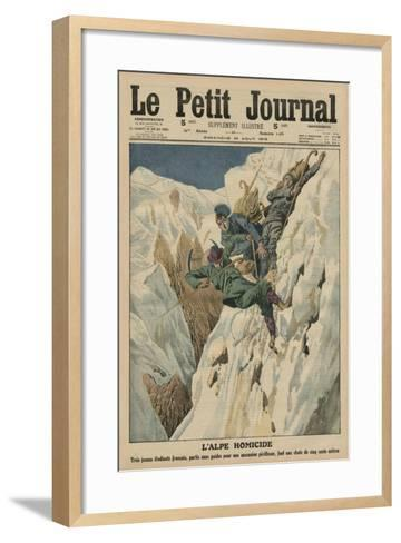 Homicidal Alp, Front Cover Illustration from 'Le Petit Journal', Supplement Illustre, 10th August…-French School-Framed Art Print