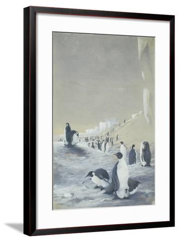 Emperor Penguin at Cape Crozier, Mar 28, 1911-Edward Adrian Wilson-Framed Art Print