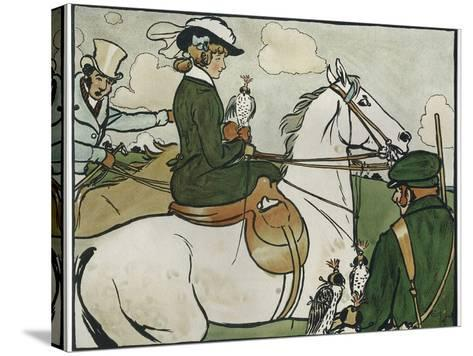 Old English Sports and Games: Hawking, 1901-Cecil Aldin-Stretched Canvas Print