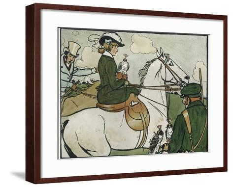 Old English Sports and Games: Hawking, 1901-Cecil Aldin-Framed Art Print