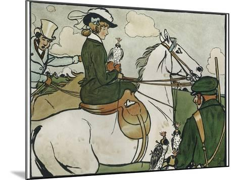 Old English Sports and Games: Hawking, 1901-Cecil Aldin-Mounted Giclee Print