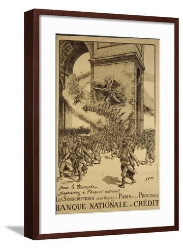 'For Triumph, Subsribe to the Loan', Poster Advertising the National Loan, Published by Devambez,…-Sem-Framed Art Print