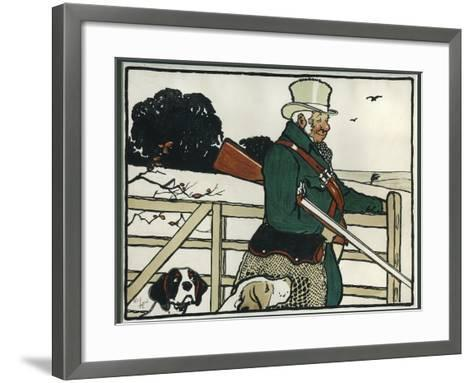 Old English Sports and Games: Shooting, 1901-Cecil Aldin-Framed Art Print
