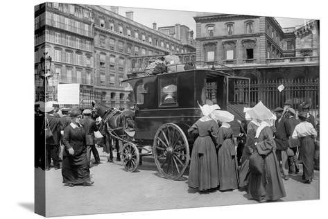 Sisters of St. Vincent de Paul Leaving, Gare de l'Est, Paris, 1914-Jacques Moreau-Stretched Canvas Print