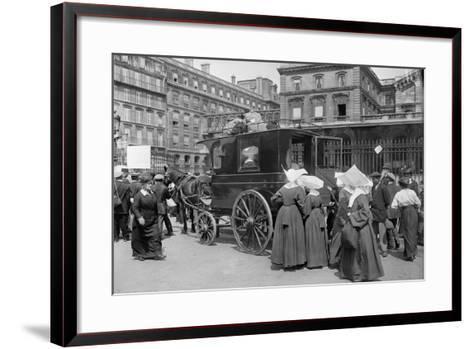 Sisters of St. Vincent de Paul Leaving, Gare de l'Est, Paris, 1914-Jacques Moreau-Framed Art Print