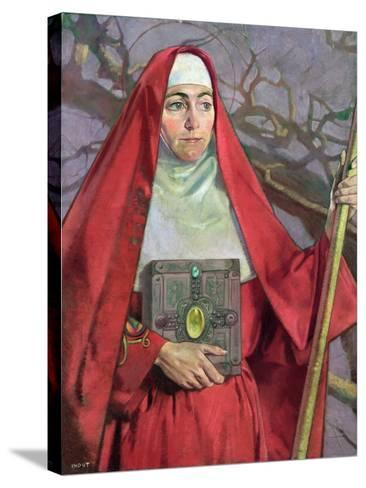 Saint Brigid-Patrick Joseph Tuohy-Stretched Canvas Print