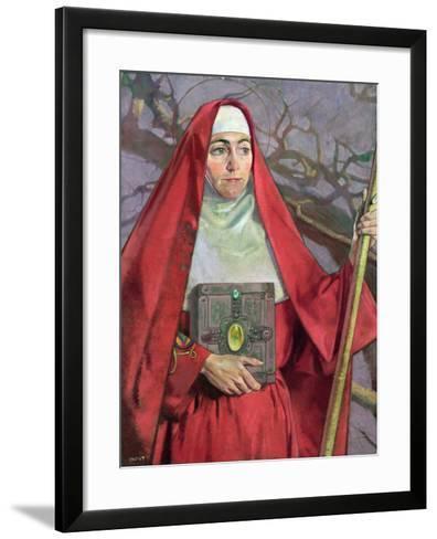 Saint Brigid-Patrick Joseph Tuohy-Framed Art Print