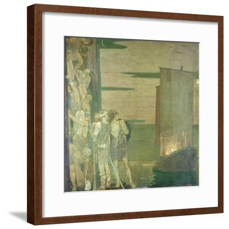 The Landing of St Patrick in Ireland, 1912-Frederick Cayley Robinson-Framed Art Print