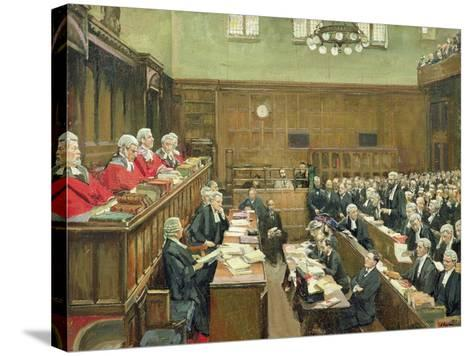 The Court of Criminal Appeal, London, 1916-Sir John Lavery-Stretched Canvas Print