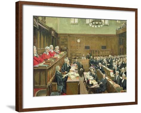 The Court of Criminal Appeal, London, 1916-Sir John Lavery-Framed Art Print