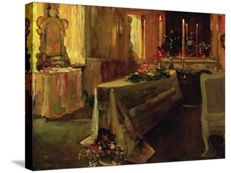 'It Is Finished', 5th Jan 1935-Sir John Lavery-Stretched Canvas Print
