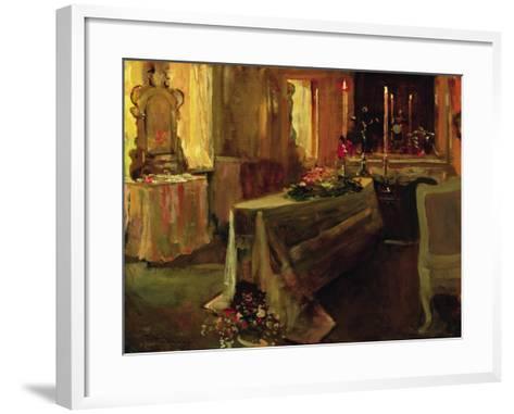'It Is Finished', 5th Jan 1935-Sir John Lavery-Framed Art Print