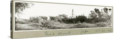 Greek Church, Jaffa, 2nd December 1917-Capt. Arthur Rhodes-Stretched Canvas Print