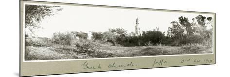Greek Church, Jaffa, 2nd December 1917-Capt. Arthur Rhodes-Mounted Giclee Print