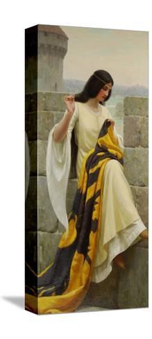 Stitching the Standard, 1911-Edmund Blair Leighton-Stretched Canvas Print