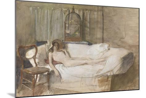 Nude on a Sofa, 1980-John Ward-Mounted Giclee Print