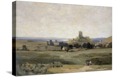 Corfe Castle, Dorset, 1905-Sir Herbert Hughes-Stanton-Stretched Canvas Print