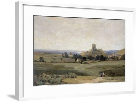 Corfe Castle, Dorset, 1905-Sir Herbert Hughes-Stanton-Framed Art Print