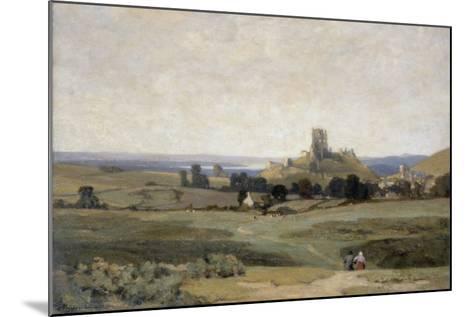 Corfe Castle, Dorset, 1905-Sir Herbert Hughes-Stanton-Mounted Giclee Print