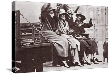 A Twopenny Tailboard Trip, May 1926-English Photographer-Stretched Canvas Print
