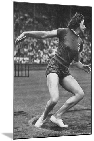 Micheline Ostermeyer on Her Way to Winning the Gold Medal for the Discus Throw at the 1948 London?--Mounted Photographic Print
