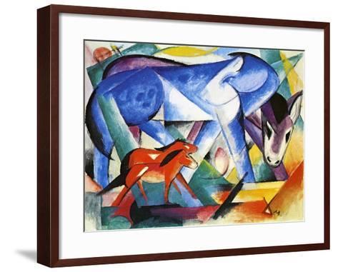 The First Animals, 1913-Franz Marc-Framed Art Print