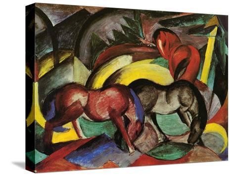 Three Horses, 1912-Franz Marc-Stretched Canvas Print