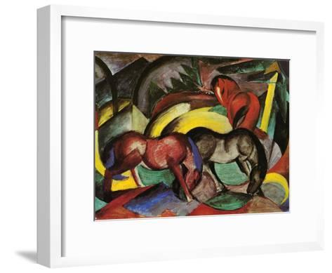 Three Horses, 1912-Franz Marc-Framed Art Print